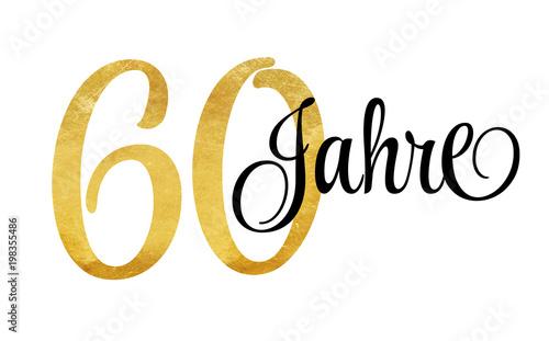 Photographie  60 Jahre - Schriftzug in Gold