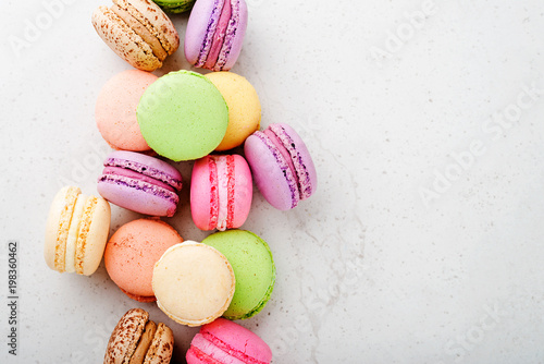 Poster Macarons Sweet and colourful french macaroons.