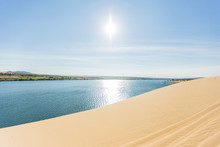 White Sand Dune In Mui Ne, Vietnam, Popular Tourist Attraction, Travel