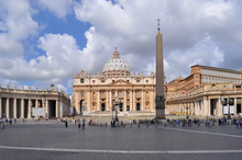 St. Peter's Cathedral On St. Peter's Square In Vatican, Rome, Italy