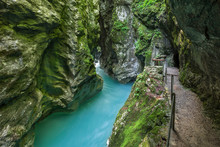 Tolmin Gorge In Triglav Nation...