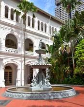 Ornate Fountain At Raffles  Ho...
