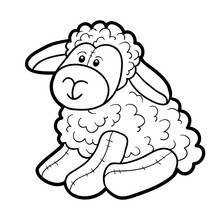 Coloring Book, Stuffed Toy Sheep