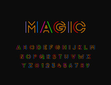 Colorful Stylized Vector Font ...