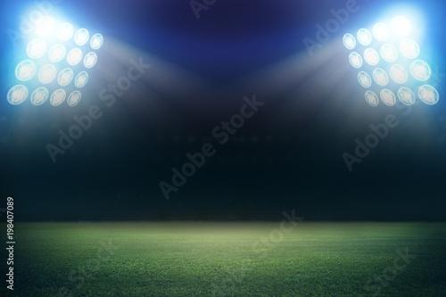Foto op Plexiglas Stadion stadium in lights and flashes 3d.