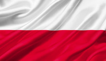 Poland Flag Waving With The Wi...