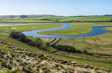 View Of The Meandering River C...