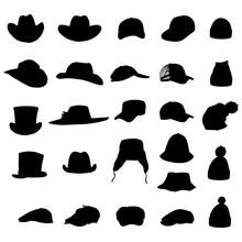 Vector Set Of Silhouette Of Ha...