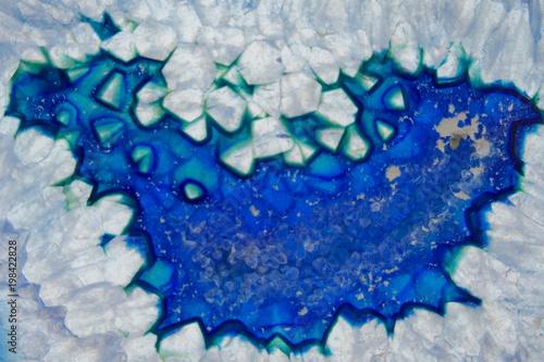Deurstickers Kristallen Blue agate macro. Blue agate texture. agate background.Stone agate texture close-up. Natural stone agate background.