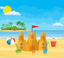 Summer Vacation. Sand Castle,