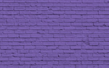 Purple Brick Wall For Backgrou...