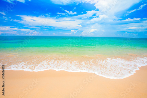 Spoed Foto op Canvas Strand beach and tropical sea