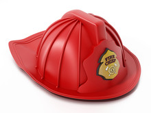 Fireman Hat Isolated On White ...