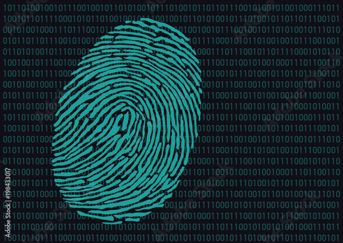 empreinte - empreinte digitale - code - crime - police - informatique - codage - Canvas