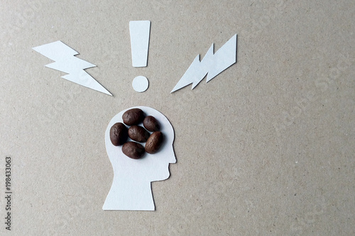 Tableau sur Toile The effects of caffeine on the brain image from coffee beans