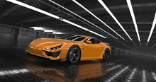 Luxury Orange Concept Sports C...