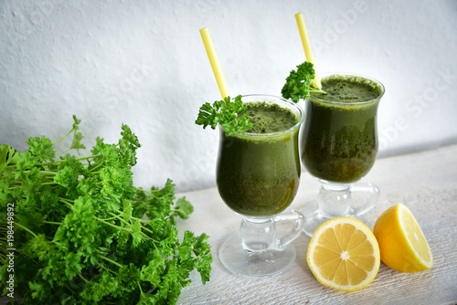 Fotografie, Obraz  Fresh and healthy green smoothie