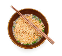 Eating Instant Noodle  Bowl Is...