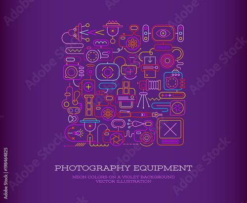 Staande foto Abstractie Art Photography Equipment