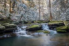 Little Waterfalls In Stream