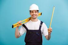 Happy Male Builder In Protecti...