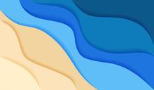 Abstract Blue Sea And Beach Su...