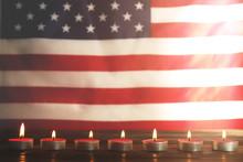 Mourning Candles Burning On US...