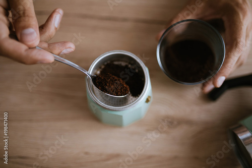 Preparing Coffee Fototapet