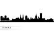 Ottawa city skyline silhouette background