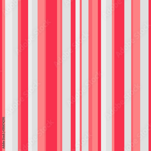 Abstract Vector Wallpaper With Red Pink And Light Strips Seamless Colored Background Geometric
