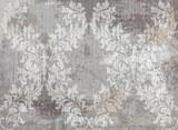 Wektor adamaszku wzór elementu. Klasyczny luksus staromodny ornament grunge tło. Royal Victorian texture do tapet, tekstyliów, tkanin, owijania. Wyśmienite, kwiatowe barokowe szablony - 198476419