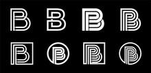 Capital Letter B. Modern Set F...