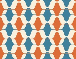 FototapetaVintage seamless background, retro pattern. Multicolored garlands. 1950s modern style.