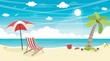 Vector Illustration Of Summer Beach Background