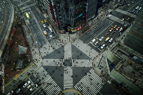 Foto op Aluminium Tokio intersection