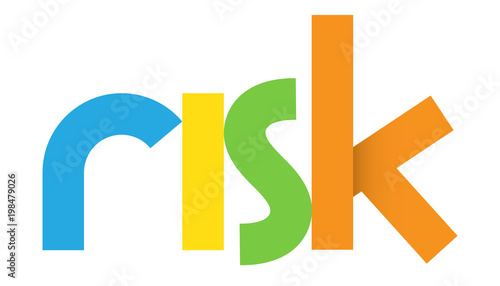 Photo RISK Colourful Letters Icon