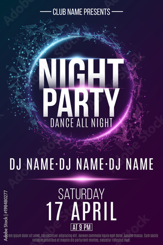 Poster for a Night Party Canvas