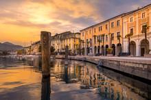 Promenade Lungolago In Salo On Lake Garda, Italy