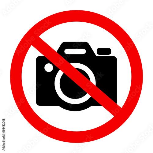 Fototapeta znak zakaz fotografowania obraz