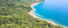 Luftaufnahme: Naturstrand, Pazifischer Ozean, Costa Rica,