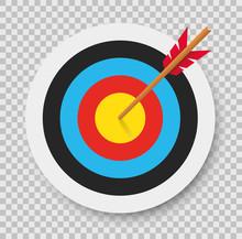 Target With Arrow. Archery. Vector Illustration.