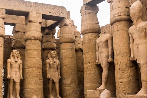 In de dag Egypte Luxor Temple, Karnak, Egypt.