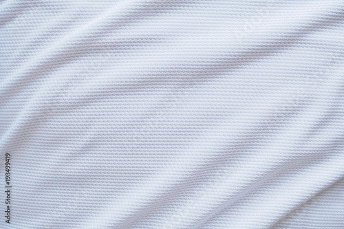 Foto op Aluminium Stof White football jersey clothing fabric texture sports wear background