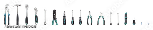 Valokuva Tools set isolated on white background