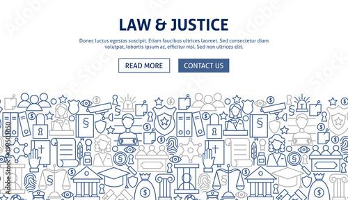 Fotografía  Law Justice Banner Design