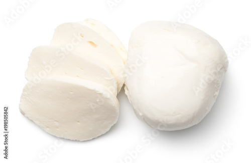 Fotomural Mozzarella Isolated on White Background
