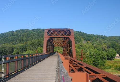Belmar Bridge an Allegheny River Trail Pennsylvania Canvas Print