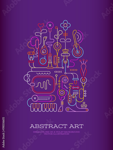 Canvas Prints Abstract Art Abstract Art vector illustration