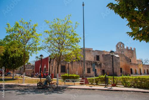 Convent of San Bernardino de Siena. Valladolid, Yucatan, Mexico Canvas Print