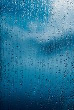 Water Drops Of Rain On A Windo...